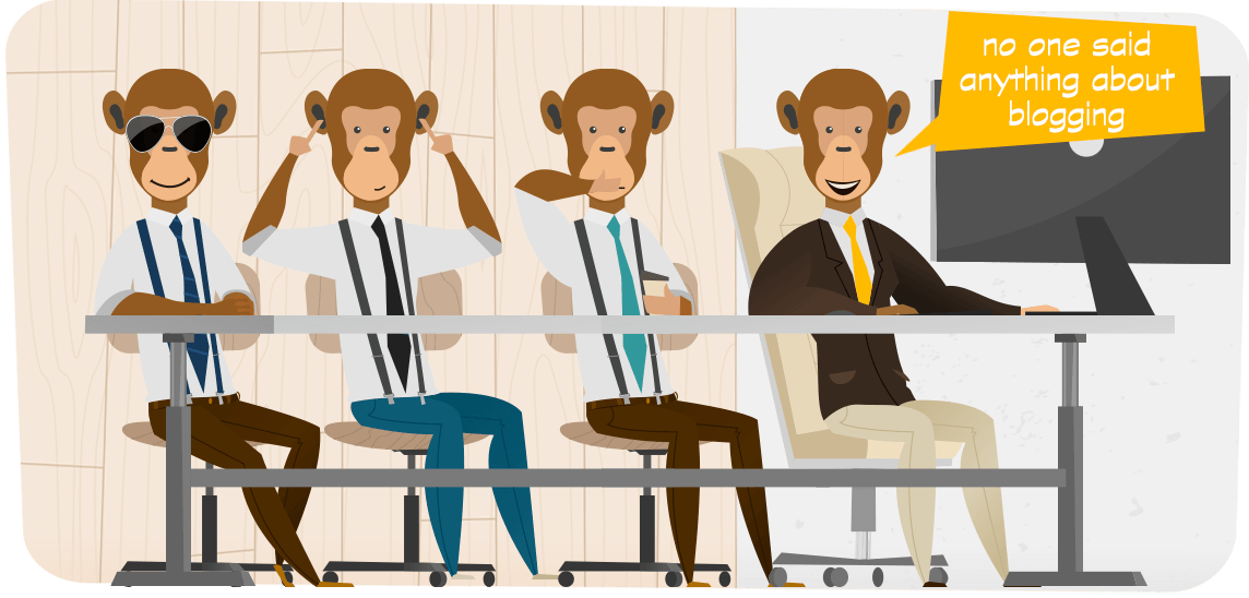 three wise admin monkeys plus one