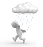 Don't allow bad weather to keep you away from the polls. Show up prepared!