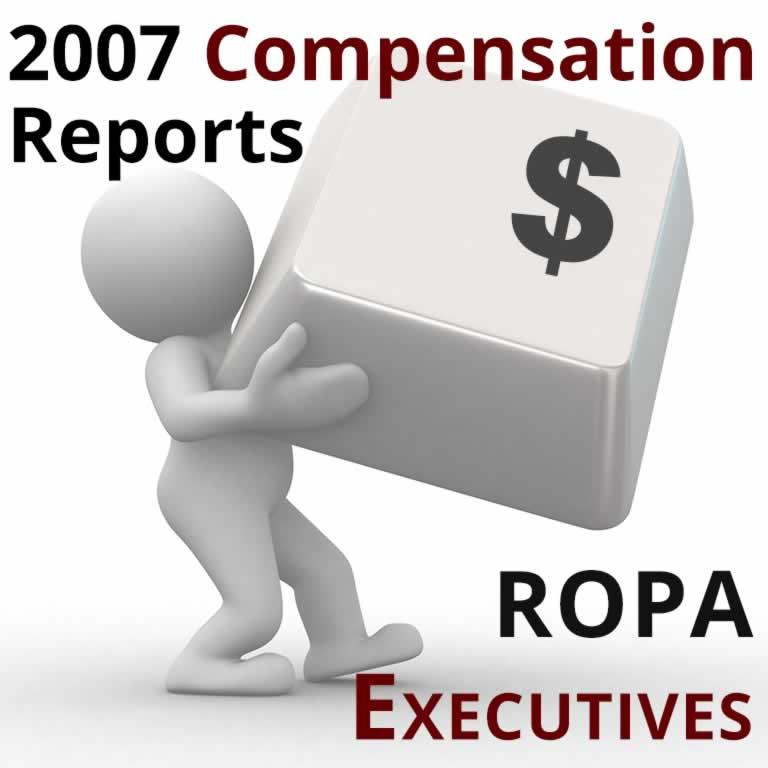 2007 Compensation Report: ROPA Executive Directors