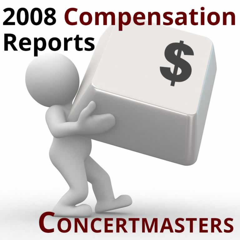 2008 Compensation Report: Concertmasters