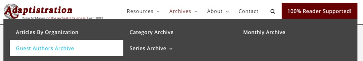 New Archive Options