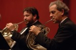 Westchester Philharmonic orchestra committee chair and principal horn, Peter Reit (right). Also pictured, Will De Vos. Photo by Susan Farley