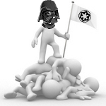 Darth Vader demonstrating no tolerance for failure